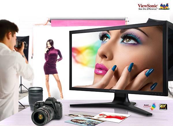 ViewSonic 全新 4K UHD 超高清晰顯示器 滿足專業影像繪製挑剔眼光 獨一無二專屬個人色彩報告 絕無僅有完美畫質精湛實力