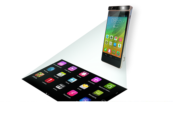 concept phone with projection
