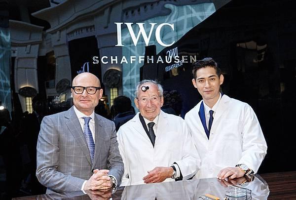 IWC萬國錶全球行政總裁喬祺斯( Georges Kern )、首席製錶顧問克勞斯(Mr. Kurt Klaus)、亞洲巨星周渝民