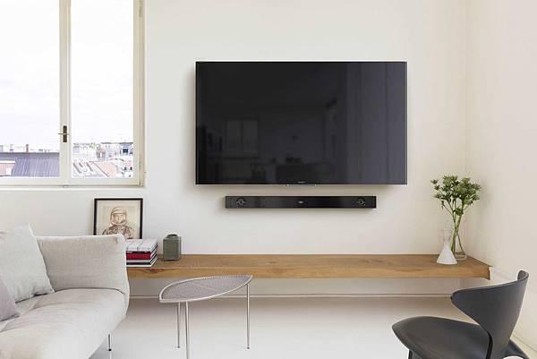 圖2) HT-NT3設計簡約並支援高解析音質,適合重視居家空間設計與聆聽質感的都會時尚消費者。