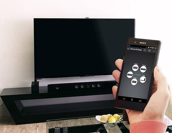 圖1) Sony全新頂級音響透過專屬Songpal應用程式打造Multi-room聆聽系統,一機掌控多機連動。