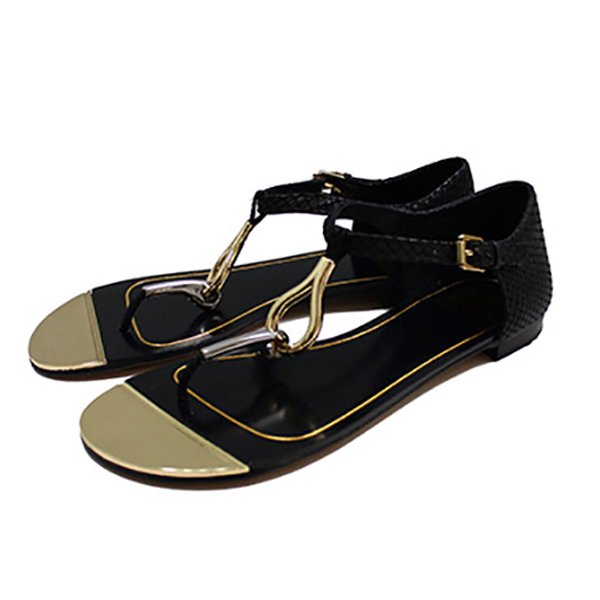 dolce vita金屬裝飾平底涼鞋