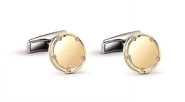 6. D.Side系列黃金袖釦,建議售價 NTD$ 68,000