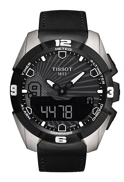 圖1. 天梭觸控感應太陽能腕錶Tony Parker限量版腕錶 NT$34,300