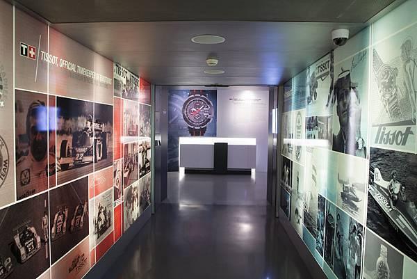 圖1. 天梭表於日內瓦-時間之城展覽中,呈現天梭表在運動世界中的歷史進程與軌跡。