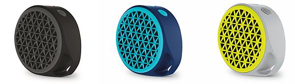 【圖一】羅技X50迷你行動無線音箱 藍、黃、鐵灰三色即日起在台上市