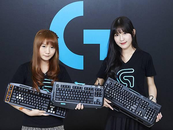 【圖三】G310精簡型機械式遊戲鍵盤的推出,補齊羅技機械式鍵盤完整產品線,正式宣告羅技G系列機械式鍵盤全員到齊。(左起:G310、G910、G710+)