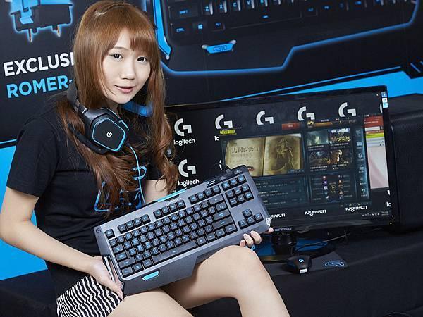【圖二】G310精簡型機械式遊戲鍵盤搭載羅技獨家Romer-G機械式開關,比一般機械式鍵盤的觸發速度快上25%,是戰場上必備的克敵利器。