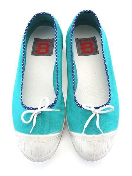 彩色點點滾邊娃娃鞋