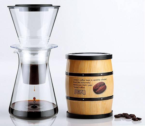 統一阪急台北店_JUNIOR IWAKI日本冰滴咖啡器+JUNIOR冰咖啡專用豆1罐 原價2,700元 特價990元 限量20組