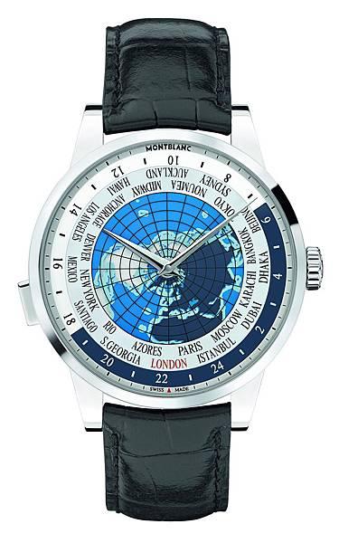112308 萬寶龍Heritage Spirit傳承典藏系列世界時區腕錶精鋼款,建議售價NT$171,000