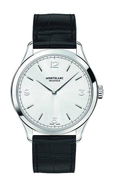 112515 萬寶龍Heritage Chronometrie傳承精密計時系列超薄腕錶 精鋼款,建議售價NT$66,800