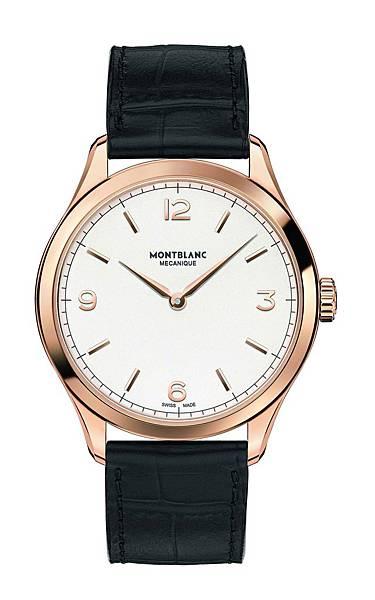 112516 萬寶龍Heritage Chronometrie傳承精密計時系列超薄腕錶 玫瑰金款,建議售價NT$188,200