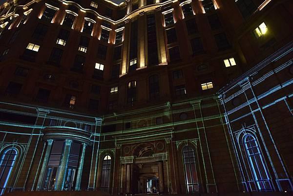 15米高牆展演3D建築投影秀 震撼光影打造Samsung Galaxy機皇磅礡氣勢