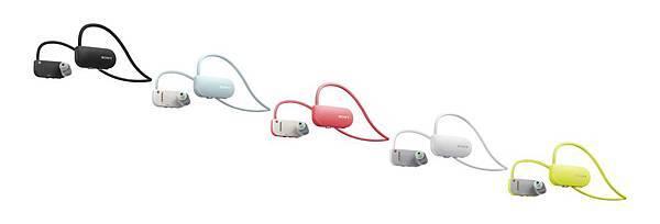 圖2)Sony B- Trainer智慧型隨身教練,採用服貼的頸戴式無線設計,共有黑、白、粉紅、黃及淺藍五色以供選擇,全方位運動訓練計畫all in one。