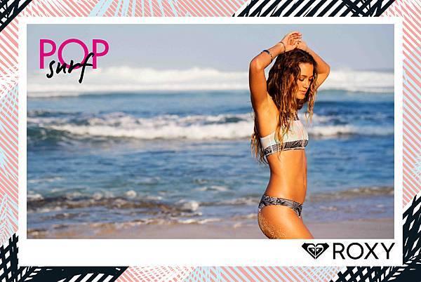 ROXY衝浪好手MONYCA 演繹POP SURF海洋渡假- 比基尼
