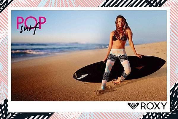 ROXY衝浪好手MONYCA演繹POP SURF海洋渡假-衝浪Legging
