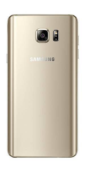 Galaxy Note 5 曲面美背產品圖(琉光金)