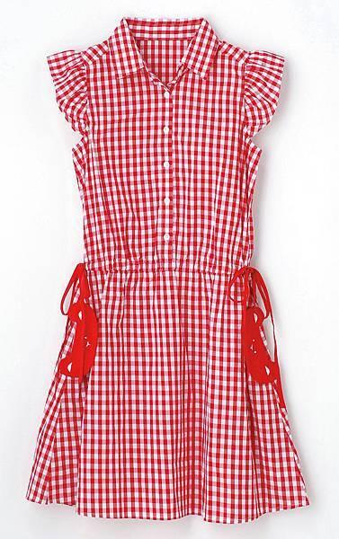 統一阪急台北店_cantwo女款格紋縮腰洋裝 原價2.980元 特價990元 限量5件