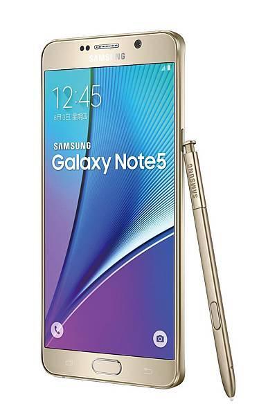 Galaxy Note 5產品圖 (琉光金)