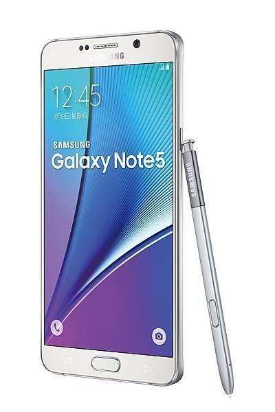 Galaxy Note 5產品圖 (星燦白)