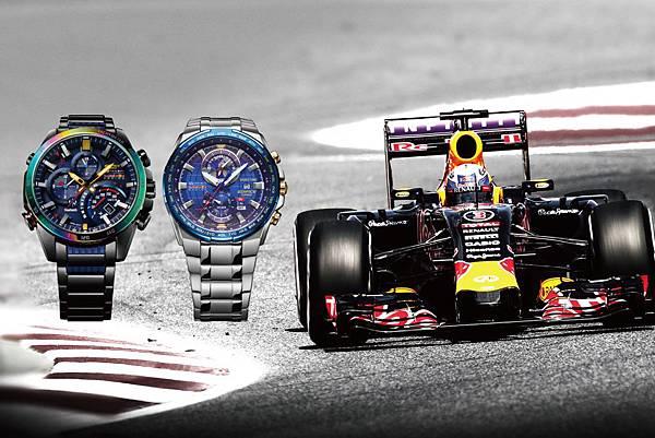 CASIO EDIFICE x Infiniti Red Bull Racing_EQB-500RBB-2A及EFR-539RB-2A形象圖