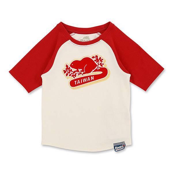 (童裝)Roots 104年Taiwan Day紀念系列-海狸尾巴T恤-$1180~$1280