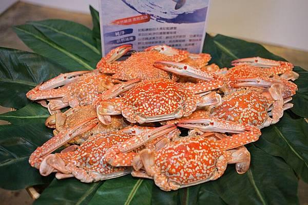 秋蟹上市,太食記引進泰國藍鑽蟹,9月起產地直送來台。 (照片提供:太食記)