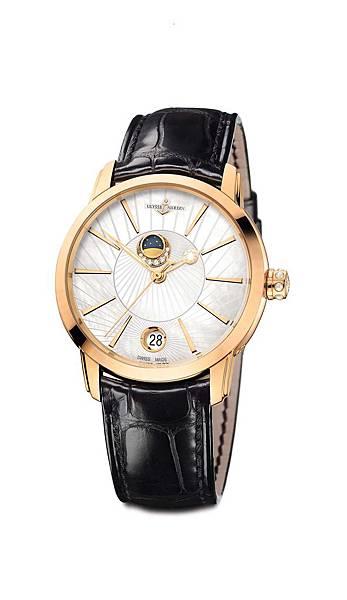 鎏金沁月嬋娟腕錶_白色珍珠母貝錶盤去背圖