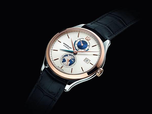 113780 萬寶龍傳承精密計時系列Vasco Da Gama 限量238兩地時間腕錶情境圖