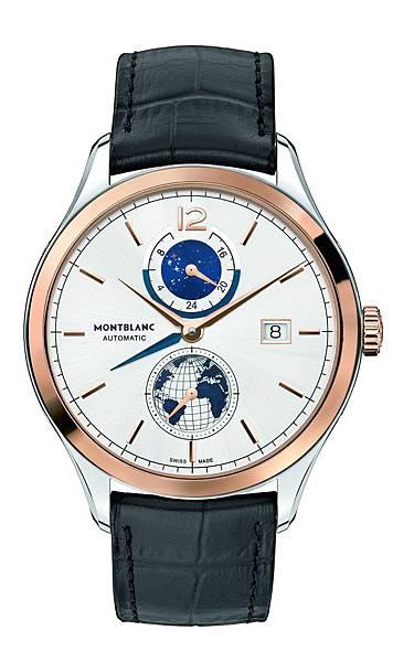 113780 萬寶龍傳承精密計時系列Vasco Da Gama 限量238兩地時間腕錶,建議售價NT$207,300