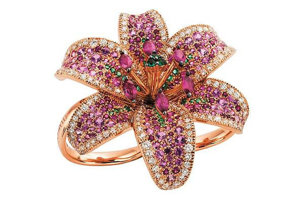 13. GIGLIO系列玫瑰金戒指,建議售價NTD$ 1,060,000