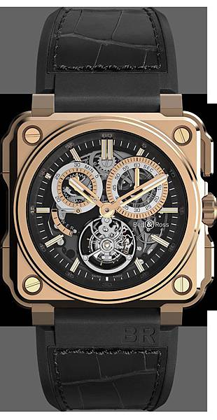 Bell & Ross BR-X1計時陀飛輪腕錶玫瑰金款,建議售價NT$5,825,000