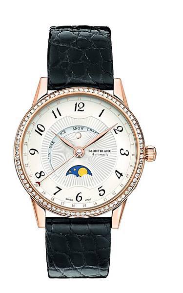 112554 萬寶龍寶曦月苑玫瑰金腕錶,NT$376,600