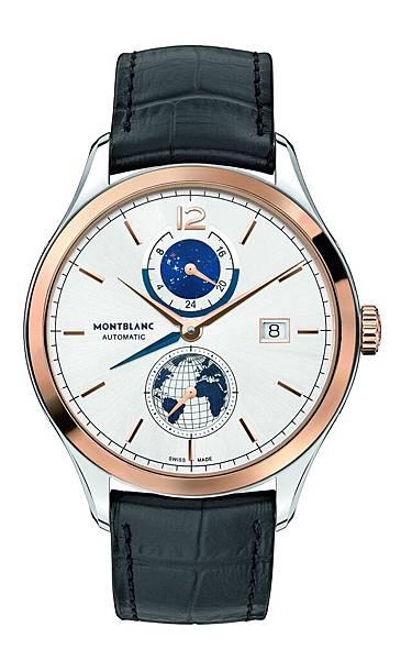 113780 萬寶龍傳承精密計時系列限量兩地時間腕錶,NT$207,300
