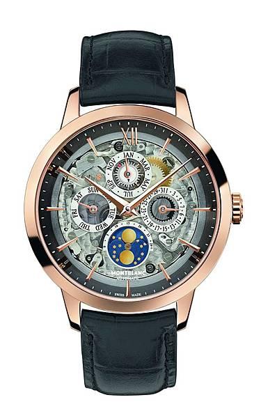 112310 萬寶龍傳承典藏系列萬年曆煙灰色藍寶石水晶腕錶,NT$682,000
