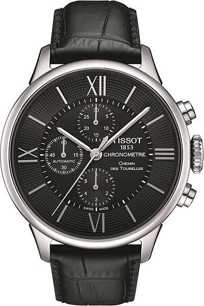 圖1.天梭表Chemin des Tourelles杜魯爾系列自動計時腕錶