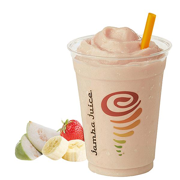【圖9】Jamba Juice台灣限定口味「芭娜娜了莓Gotta Love Guava」,採用寶島盛產的芭樂,搭配香蕉、草莓製成,只在台灣喝得到!