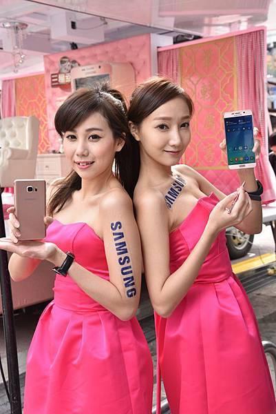 Samsung Galaxy Note 5「瑰鉑粉」雙曲面美背設計搭配最新迷人粉色,閃耀奪目