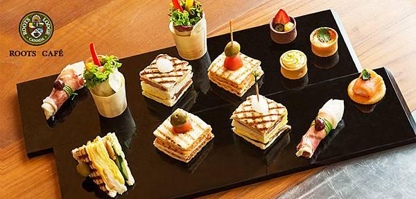 Roots Café Canape Tea Set 點心午茶組-無字