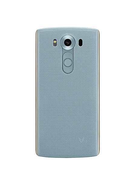 LG V10相機鏡頭更有如淡藍鑽石般,展現最有自信的閃亮色彩,並完美搭配沉穩的流光銀色邊框,帶領行動生活美學更上一層樓。