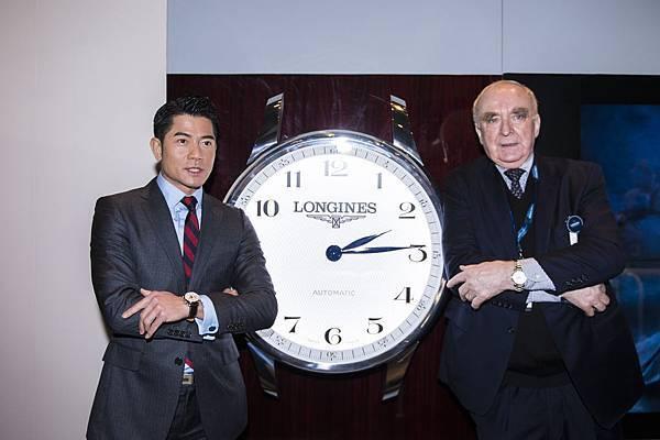 浪琴表全球代言人郭富城與浪琴表總裁Walter Von Känel