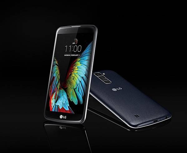 LG全新K系列手機出擊!台灣LG電子今天宣布推出LG K10,搭載5.3吋HD內嵌式觸控面板,並採用LG獨創2.5D Arc Glass微曲弧形玻璃螢幕,除了具備顯真明亮的色彩效果,流線型外觀更添質感。