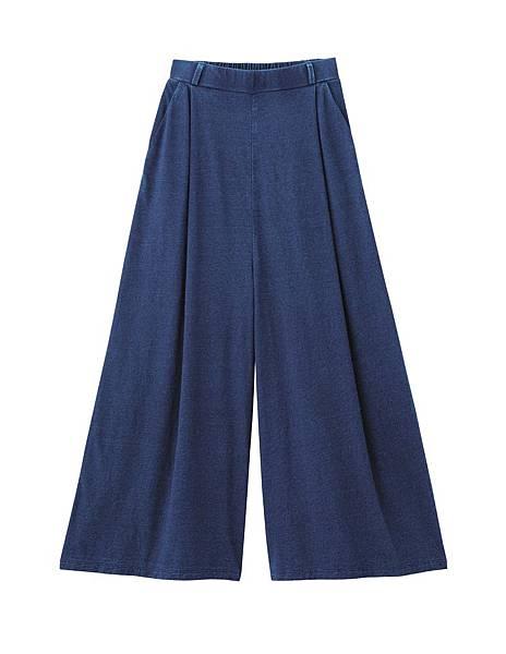 GU網路商店搶先販售商品_女裝輕便仿牛仔寬褲_NT790元