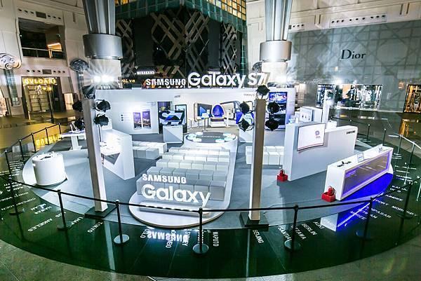三星於台北101 4F廣場打造全新Galaxy全系列預賞專區