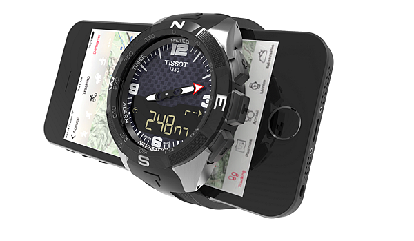 圖2. 智慧手錶透過藍牙連接手機之後,Smart - Touch會同步變更國際時區。