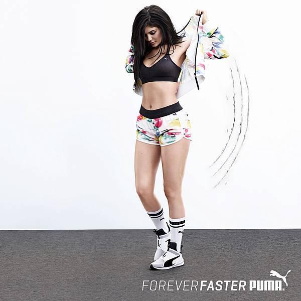 新生代女神凱莉珍娜(Kylie Jenner) 宣布加入 PUMA 女力運動行列,為 PUMA 2016 年全新輕量女性訓練鞋款 Fierce Core 拍攝一系列形象視覺