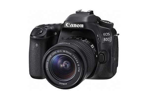 圖說二,Canon為拓展產品種類以符合不同消費者的需要,於今年(2016)推出兼備高畫質影像與強大追焦功能與短片拍攝的EOS 80D數位單眼相機
