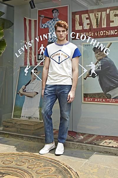 全壘打拼布棒球T恤是今年棒球復刻系列最經典的單品,這款LEVI