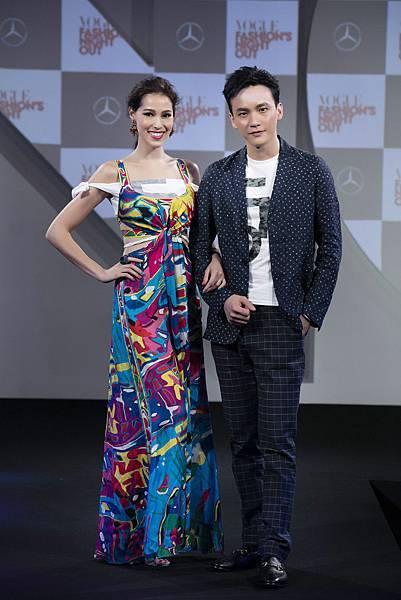 Akemi以及曹晏豪連袂出席《VOGUE全球購物夜》